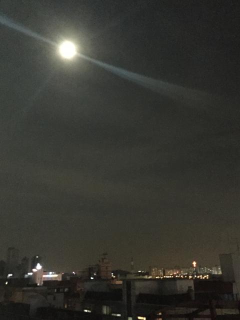 집에서 보이는 달달달 보름달